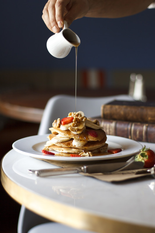 We always have a selection of homemade fluffy pancakes