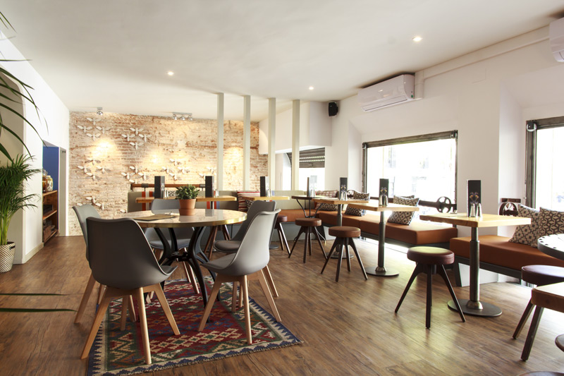 The second-floor loft, a beautiful restaurant space to dine in